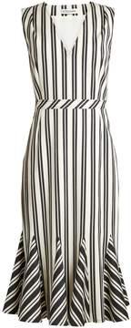 Altuzarra Anemone striped wool and cotton-blend midi dress