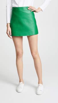 Courreges Back Logo Miniskirt