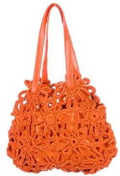 Stuart Weitzman Leather Crocheted Hobo