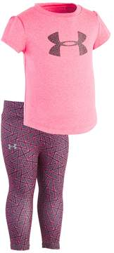 Under Armour Baby Girl Chain Grid Big Logo Tee & Leggings Set
