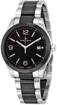 Maurice Lacroix Miros Date Black Dial Stainless Steel Men's Watch