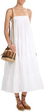 Vanessa Bruno Linen and Suede Drawstring Shoulder Bag