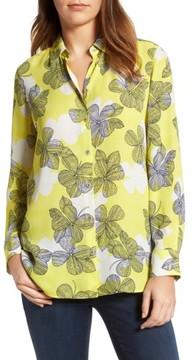Foxcroft Women's Citrine Floral Blouse