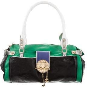 Just Cavalli Multicolor Leather Shoulder Bag