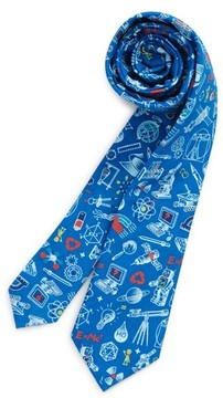 Nordstrom Boy's Science Print Cotton Tie