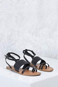 Forever 21 Ankle-Strap Braided Sandals