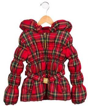 MonnaLisa Girls' Printed Hooded Coat