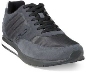 Ralph Lauren Laxman Tech Suede Sneaker Carbon Grey/Black 10