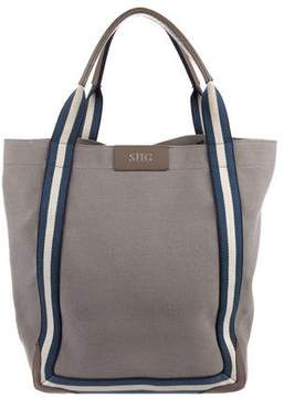 Anya Hindmarch Stripe-Embellished Canvas Tote