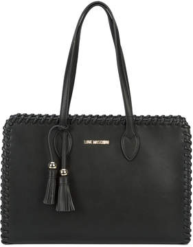 Love Moschino whipstitch tote bag