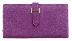 Hermes Chevre Mysore Bearn Wallet - PURPLE - STYLE
