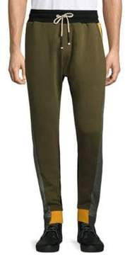 Mostly Heard Rarely Seen Colorblocked Cotton Pants