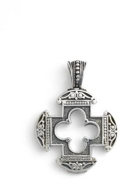Konstantino Men's Silver Classics Cutout Cross Pendant