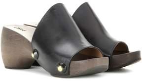 Chloé Izzy leather platform clogs