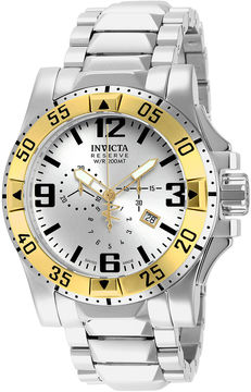 Invicta Excursion Reserve Mens Stainless Steel Chronograph Watch 14039