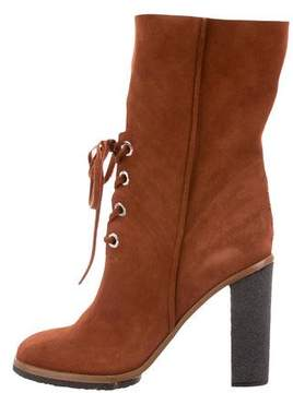 Proenza Schouler Suede Lace-Up Boots w/ Tags