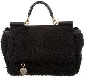 Dolce & Gabbana Crochet Miss Sicily Bag - BLACK - STYLE