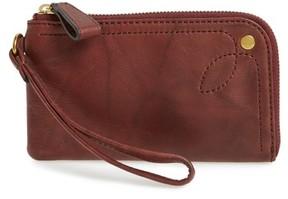 Frye Women's Campus Rivet Leather Wristlet - Brown