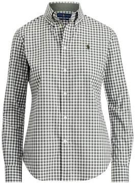 Polo Ralph Lauren | Slim Fit Gingham Poplin Shirt | L | Black