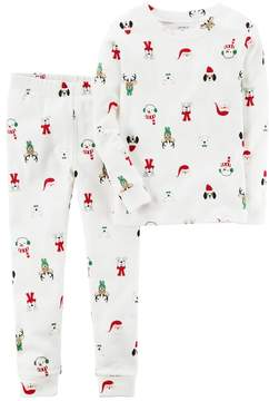 Carter's Toddler Christmas Character Print Top & Bottoms Pajama Set
