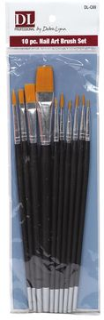 Burmax 10 Piece Nail Art Brush Set