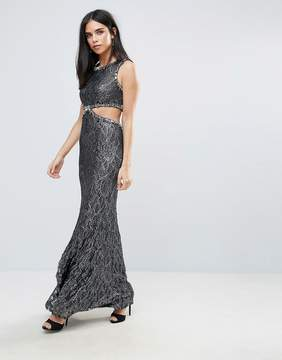 Forever Unique Maxi Dress With Side Cut Out