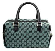Gucci Green Canvas Joy Boston Bag. - GREEN - STYLE
