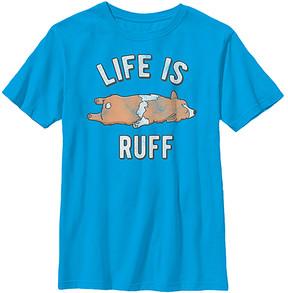 Fifth Sun Turquoise 'Life Is Ruff' Crewneck Tee - Boys