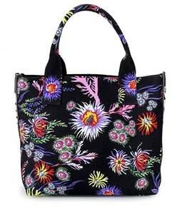 Pinko Women's Black Fabric Handbag.