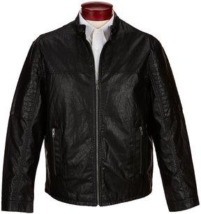 Roundtree & Yorke Faux Leather Moto Jacket