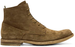 Officine Creative Tan Suede Ideal 19 Boots