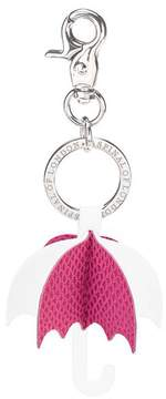 Aspinal of London Origami Umbrella Handbag Charm Keyring In Raspberry Alabaster White