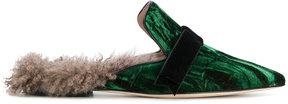 Gianna Meliani soft trim pointed slippers
