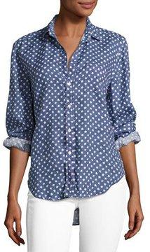 Frank And Eileen Eileen Long-Sleeve Button-Front Shirt, Blue Pattern