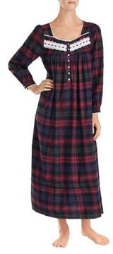 Eileen West Ballet Plaid Nightgown