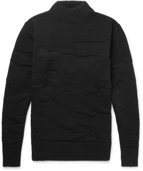 S.N.S. Herning Polygon Textured-Knit Wool Sweater