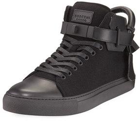 Buscemi 100mm Wool Mid-Top Sneaker, Black