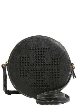Tory Burch Perforated Logo Crossbody Bag - NERO - STYLE