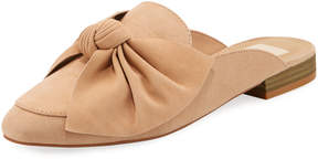 Dolce Vita Charly Bow-Accent Suede Mule Loafer