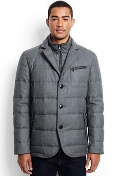 Lands' End Lands'end Men's Wool Flannel Quilted Blazer