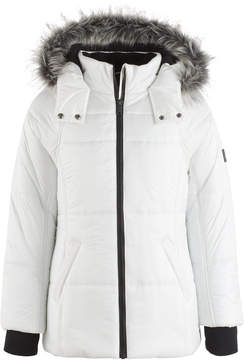 Calvin Klein Expedition Hooded Puffer Coat with Faux Fur Trim, Toddler Girls (2T-5T)