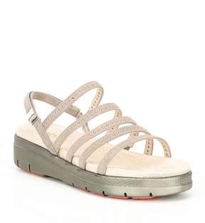 Jambu Elegance Rhinestone Suede Sandals