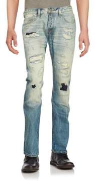 Cult of Individuality Distressed Six-Pocket Jeans