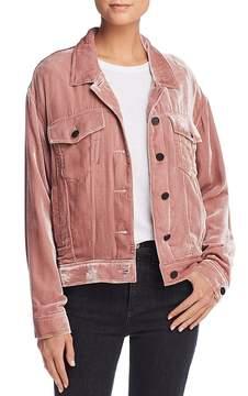 Pam & Gela Oversized Velvet Trucker Jacket