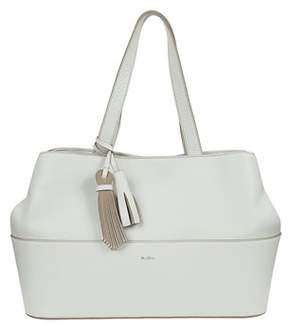 Max Mara Women's White Leather Tote.