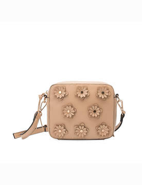 Floral Applique Crossbody Bag