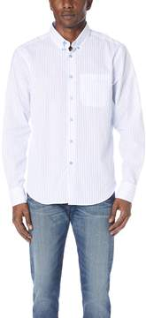 Naked & Famous Denim Striped Button Up Shirt