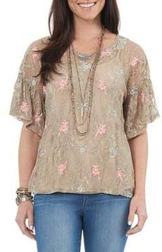 Democracy Lace Embroidered Top