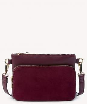 Sole Society Bahara Genuine Suede Zippered Crossbody