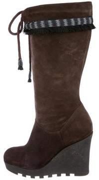 Diane von Furstenberg Suede Wedge Boots